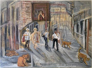 Venetian Italy alley painting by Toronto Artist Rachael Grad