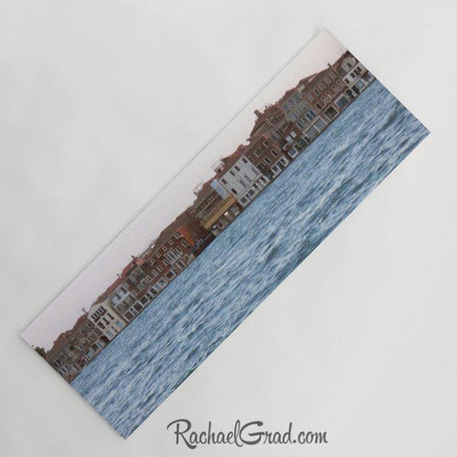 Yoga Mat with Venice Italy canal art by Toronto Artist Rachael Grad