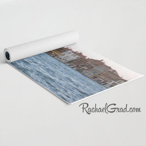 Yoga Mat with Venice Italy canal and water  art by Toronto Artist Rachael Grad