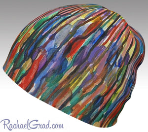 Winter Hat Beanie with Colorful Stripes Toque Women, Kids Beanie Hat Multicolor Art Hats Beanie Women Colorful Hats for Her, Winter Gifts by Toronto Artist Rachael Grad