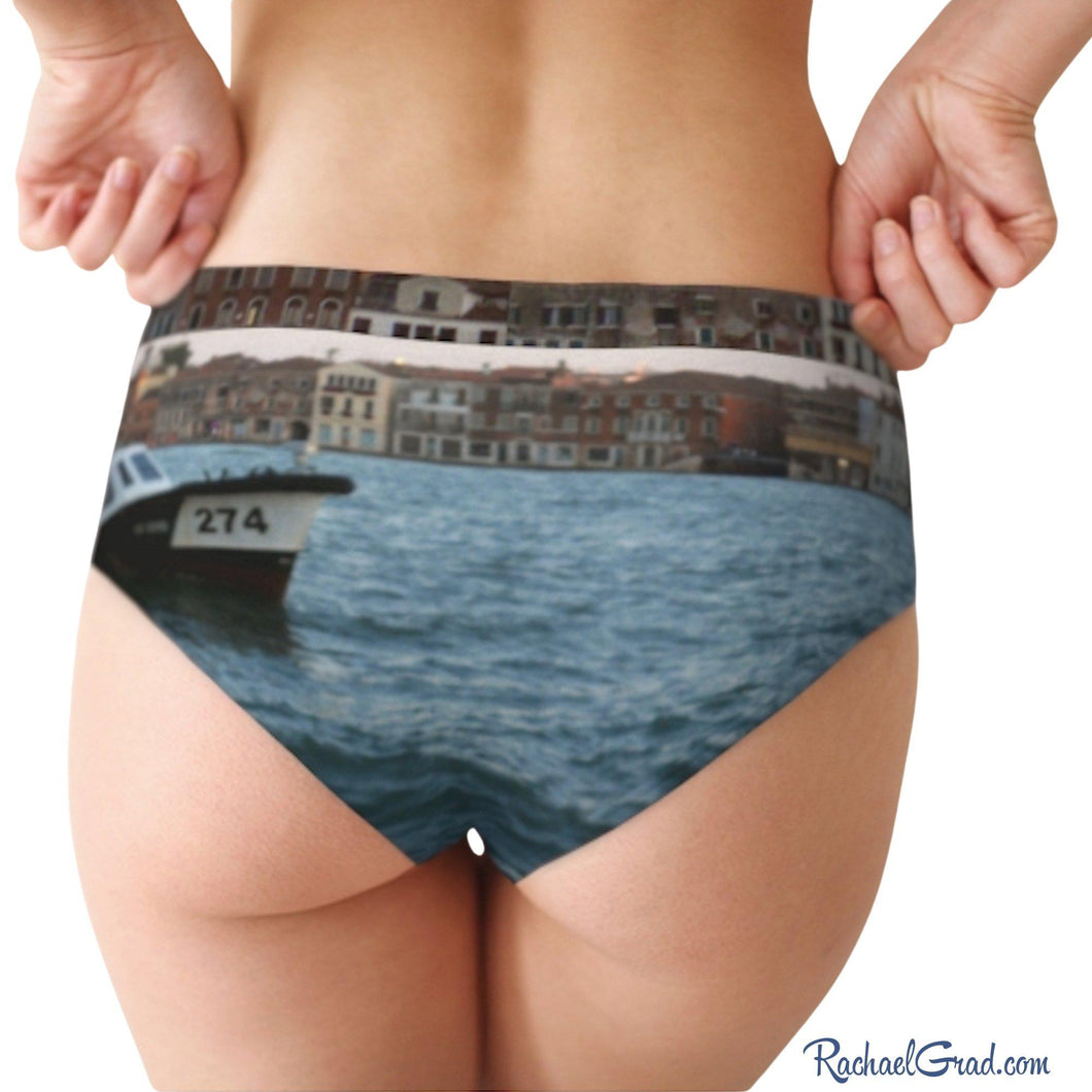 Women's Briefs - Venice Giudecca Island and Vaporetto Boat-Cheeky Briefs-Canadian Artist Rachael Grad
