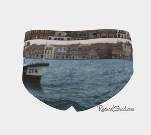 Women's Briefs Venice Giudecca Island and Vaporetto Boat by Artist Rachael Grad back view