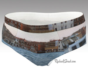 Women's Briefs Venice Giudecca Island and Vaporetto Boat by Artist Rachael Grad Front view