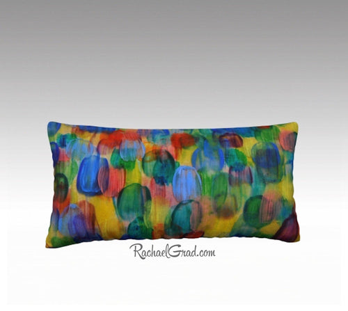 Baby Nursery Accent Pillow | Multicolor Throw Pillow Family by Artist Rachael Grad