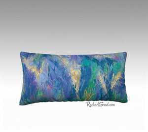 Pillowcase - Yellow Purple Abstract Flowers-Pillows-Canadian Artist Rachael Grad