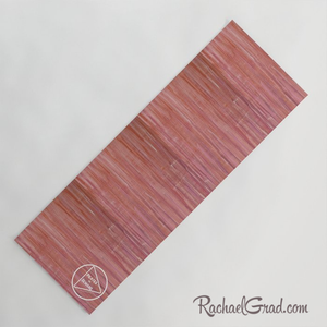 pink yoga mat for Pilates on Demand by Artist Rachael Grad