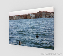 Load image into Gallery viewer, Art Print - 2 Dogs in the Water, Giudecca Canal, Venice, Italy-Animal Series-Canadian Artist Rachael Grad