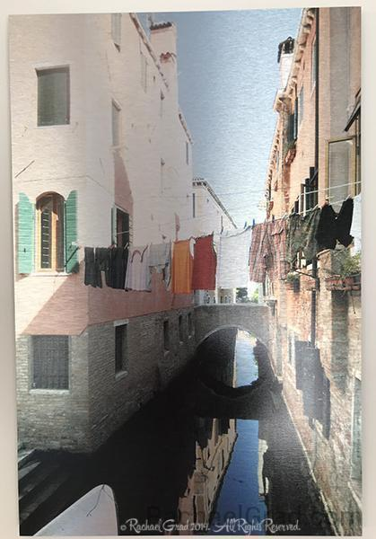 Laundry Lines, Dorsoduro, Venice, Italy Ink on Metal Limited Edition Print, 16