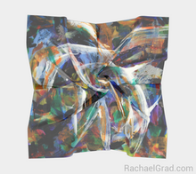 Load image into Gallery viewer, Abstract Scarf 1 Square Brushstrokes-Square Scarf-rachaelgrad-rachaelgrad artsy abstract colorful artwork multicolor