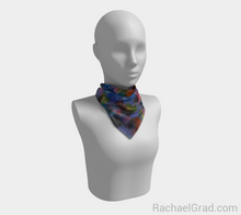 Load image into Gallery viewer, Dot Series 1 Blues Square Scarf-Square Scarf-rachaelgrad-rachaelgrad artsy abstract colorful artwork multicolor