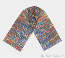 Load image into Gallery viewer, Fluid Long Scarf Bright Colours 2-Long Scarf-rachaelgrad-rachaelgrad artsy abstract colorful artwork multicolor