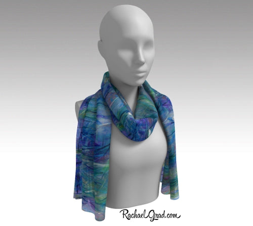 Purple Scarf, Colorful Scarves for Women, Violet Lady's Scarf, Holiday Gift Scarf by Toronto Artist Rachael Grad
