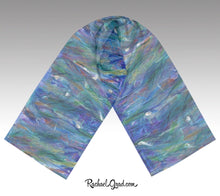 Load image into Gallery viewer, Purple and Blue Scarves for Women by Toronto Artist Rachael Grad