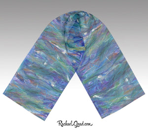 Purple and Blue Scarves for Women by Toronto Artist Rachael Grad