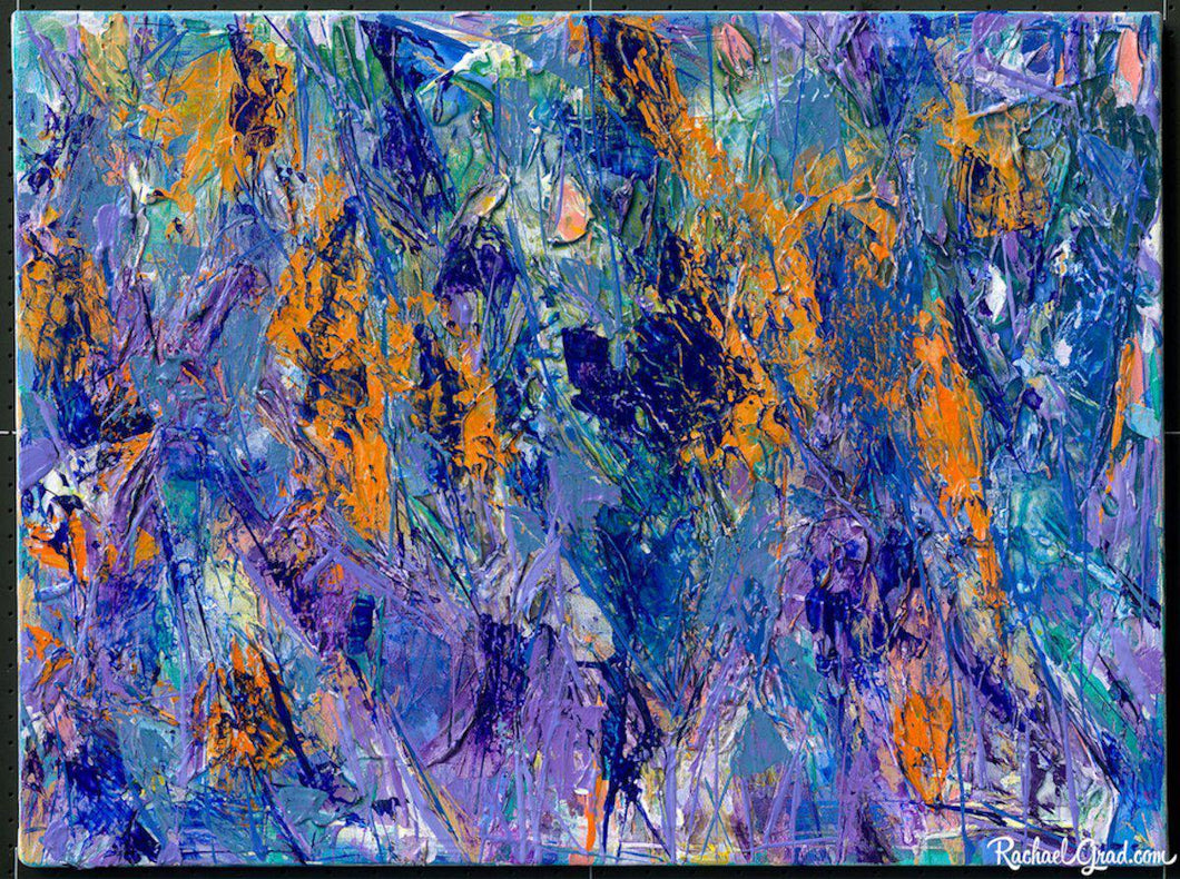 Blue Orange Abstract Painting