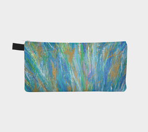 Blue Orange Flower Pencil Case-Pencil Case-Canadian Artist Rachael Grad