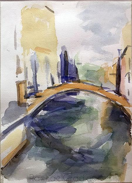 Bridge and Water, Venice, Italy-Portfolio-Canadian Artist Rachael Grad