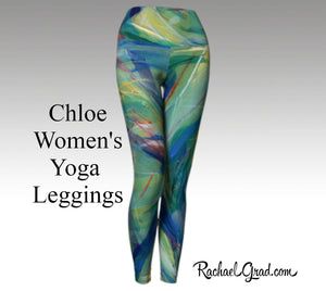 Matching Green Legging Set for Mom and Me by Artist Rachael Grad tights