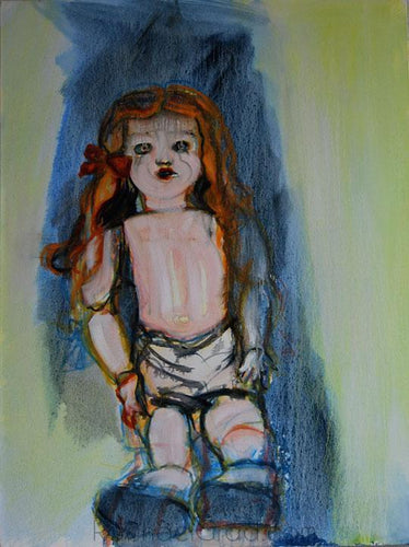 Creepy Doll Painting