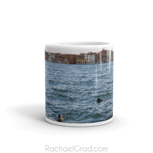 Dogs Swimming Venice Italy Mug