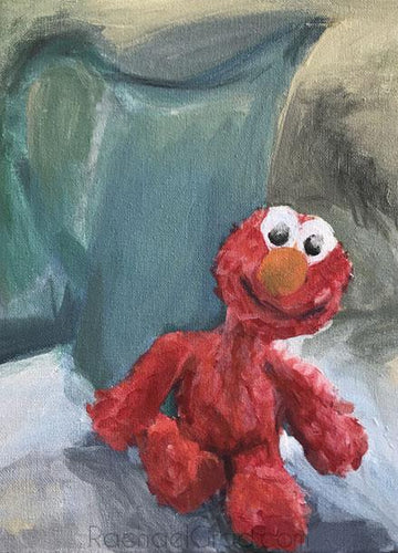 Elmo Still Life, Acrylic on Canvas Painting, 2018 Rachael Grad Art Artist