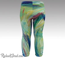 Load image into Gallery viewer, green baby leggings by toronto artist Rachael Grad chloe style tights back view