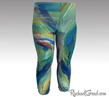 Load image into Gallery viewer, green baby leggings by toronto artist Rachael Grad chloe style
