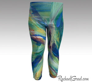 green baby leggings by toronto artist Rachael Grad chloe style tights