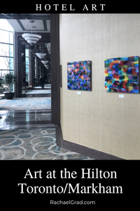 Hotel Art at the Hilton Toronto Markham Suites Colorful Abstract Art by Artist Rachael Grad