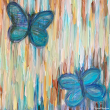 Load image into Gallery viewer, Butterfly Painting-Original Art-Canadian Artist Rachael Grad