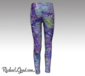 Purple Pants, Baby Shower Gift Mother's Present, Purple Yoga Pants by Artist Rachael Grad