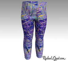 Load image into Gallery viewer, Purple Abstract Art Baby Leggings by Toronto Artist Rachael Grad