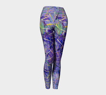 Load image into Gallery viewer, Jen-Jen Purple Leggings-Leggings-Canadian Artist Rachael Grad