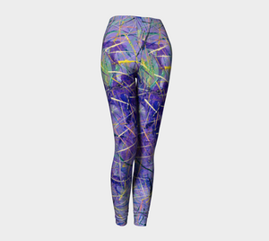 Jen-Jen Purple Leggings-Leggings-Canadian Artist Rachael Grad