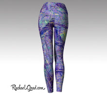 Load image into Gallery viewer, Purple Leggings | Yoga Leggings Women by Artist Rachael Grad