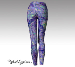 Purple Leggings | Yoga Leggings Women by Artist Rachael Grad