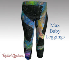 Load image into Gallery viewer, Baby Leggings | Baby Shower Gift | Newborn Boy Coming Home Outfit | New Baby New Mom Gifts |  Toddler Boy Clothes by Artist Rachael Grad Max art print