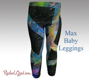 Baby Leggings | Baby Shower Gift | Newborn Boy Coming Home Outfit | New Baby New Mom Gifts |  Toddler Boy Clothes by Artist Rachael Grad Max art print