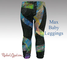 Load image into Gallery viewer, Newborn Boy Coming Home Outfit Max Baby leggings by Artist Rachael Grad