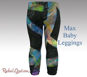 Newborn Boy Coming Home Outfit Max Baby leggings by Artist Rachael Grad