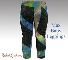 Load image into Gallery viewer, Toddler Boy Clothes Max Baby Leggings by Artist Rachael black leggings