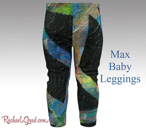 Toddler Boy Clothes Max Baby Leggings by Artist Rachael black leggings