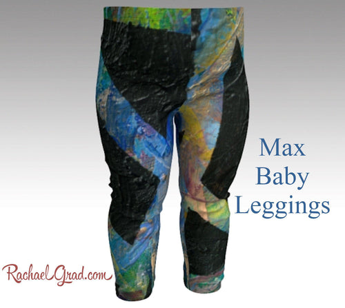 Baby Leggings | Baby Shower Gift | Newborn boy Coming Home Outfit by artist rachael gradd