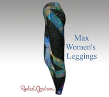 Load image into Gallery viewer, black womens leggings side view max legging by artist rachael grad Black Leggings for Women | Fitness Wear | Workout Wear | Tights Women