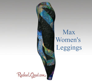black womens leggings side view max legging by artist rachael grad Black Leggings for Women | Fitness Wear | Workout Wear | Tights Women