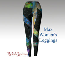Load image into Gallery viewer, max black leggings for women by artist rachael grad Leggings Yoga | Yoga Pants | Leggings Woman | Womens Pants | Ladies pants