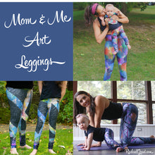 Load image into Gallery viewer, Mom & Me Art Leggings Matching by Toronto Artist Rachael Grad