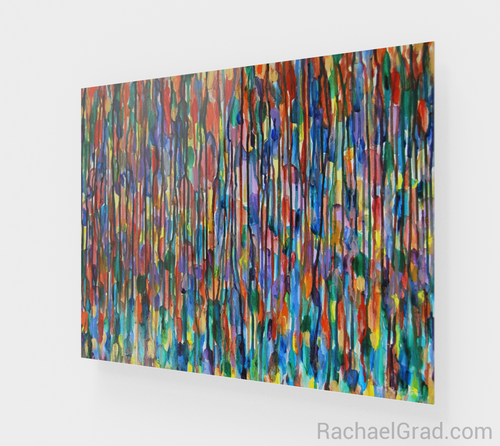 Fluid Long MultiColor Bright 16 x 20-Acrylic Print-rachaelgrad artsy abstract colorful artwork multicolor wall art