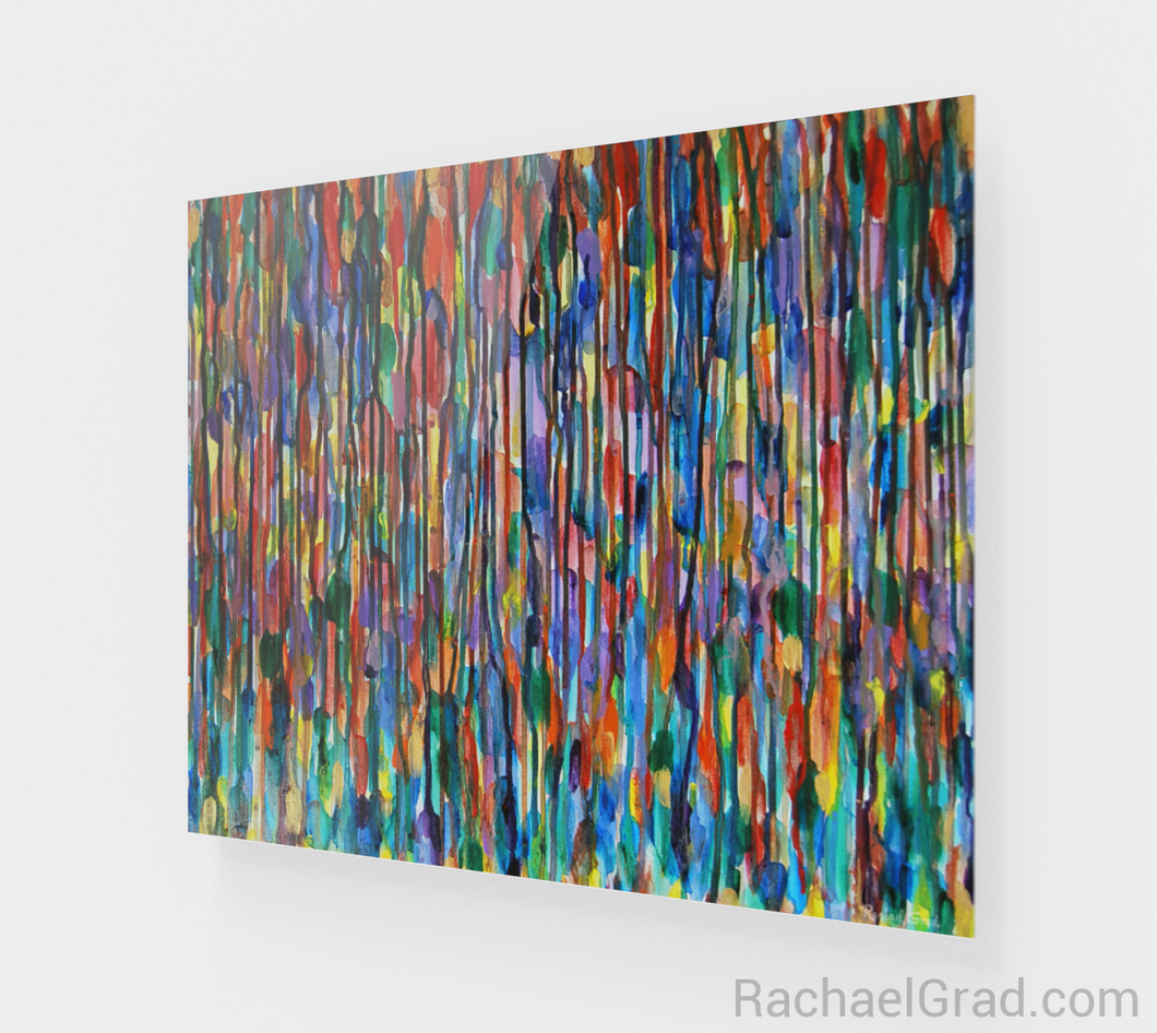 Fluid Art Print Bright Colours 1 24 x 20-Acrylic Print-rachaelgrad artsy abstract colorful artwork multicolor wall art