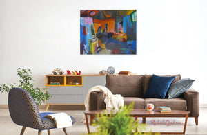 New York Studio Interior Art Print-Abstract Art Prints-Canadian Artist Rachael Grad